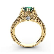 imixlot Exquisite Gold Ring Anniversary Engagement Wedding Zircon Rings For Women Crystal Jewelry Green Band Ring anillos dreamcarnival 1989 created pearls wedding ring for women anniversary zircon gift perla anillos bagues femme ringen wa11264