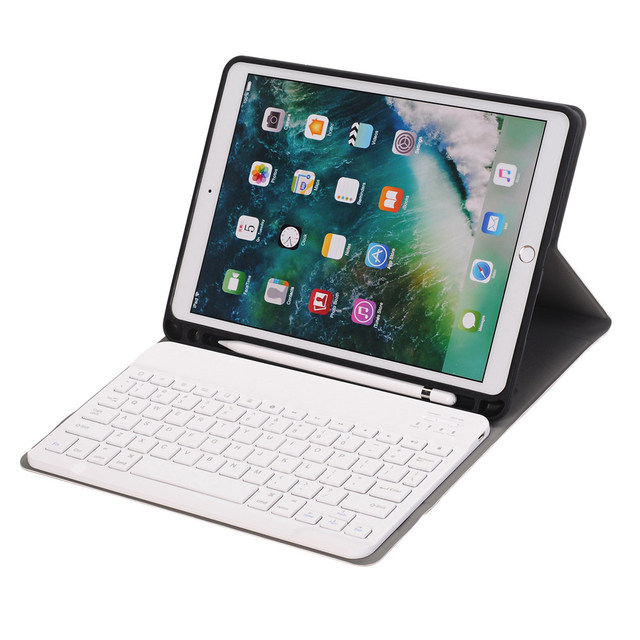 pretty nice 37737 88fce US $38.67 |For iPad Pro 10.5 Slim Smart Folio Stand PU Leather Case Cover  With Apple Pencil Holder+Detachable Wireless Bluetooth Keyboard-in Tablets  & ...