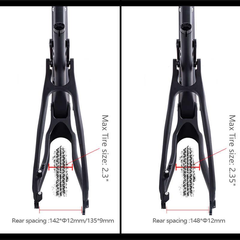 "BXT 29er carbone vtt cadre complet Suspension vélo vtt cadre taille maximale du pneu 2.3 ""/2.35"" boost carbone suspension vélo cadre pièces"