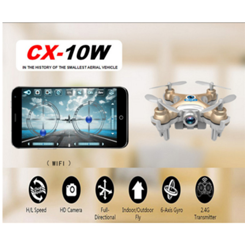 Cheerson CX 10 CA STARS CX 10C CX 10W pocket Drone RC Quadcopter Nano WIFI Drone
