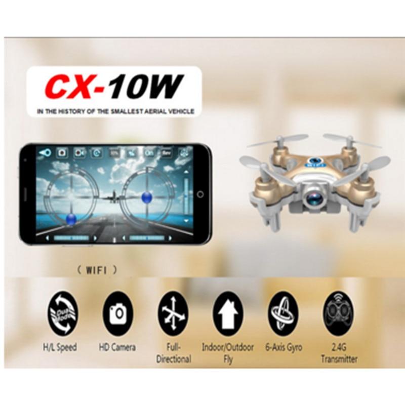 Cheerson CX-10 CA-STARS CX-10C CX 10W pocket Drone RC Quadcopter Nano WIFI Drone with HD Camera FPV 6AXIS GYRO Mini Drone xiaomi