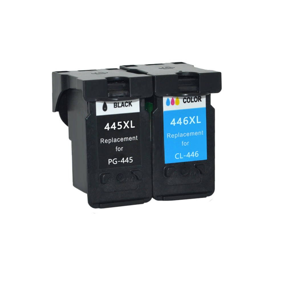YI LE CAI Compatible PG 445 445XL pg445 PG-445 CL-446 CL 446xl ink cartridge for Canon PIXMA MG 2440 2540 2940 MX494 IP2840 pg 445 cl 446 cartridge pg 445 cl 446 ink cartridge for canon pg445 for canon pixma ip2840 mg2440 mg2540 mg2940 mx494 printer