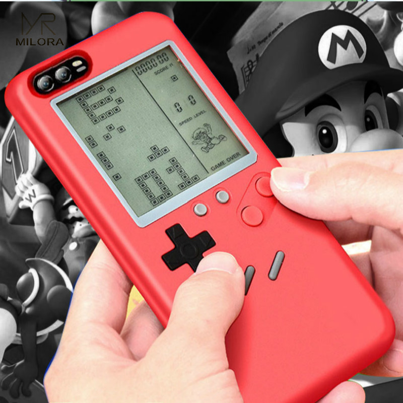 MLR Retro GB Gameboy Tetris Phone Cases For Huawei P10/P10 Plus Soft TPU Can Play Blokus Game Console Cover For P10