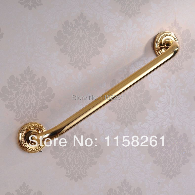 Free shipping Luxury Copper bathroom armrest bathtub safety Grab Bars Golden towel rack bathroom hardware accessories  HJ-1314F