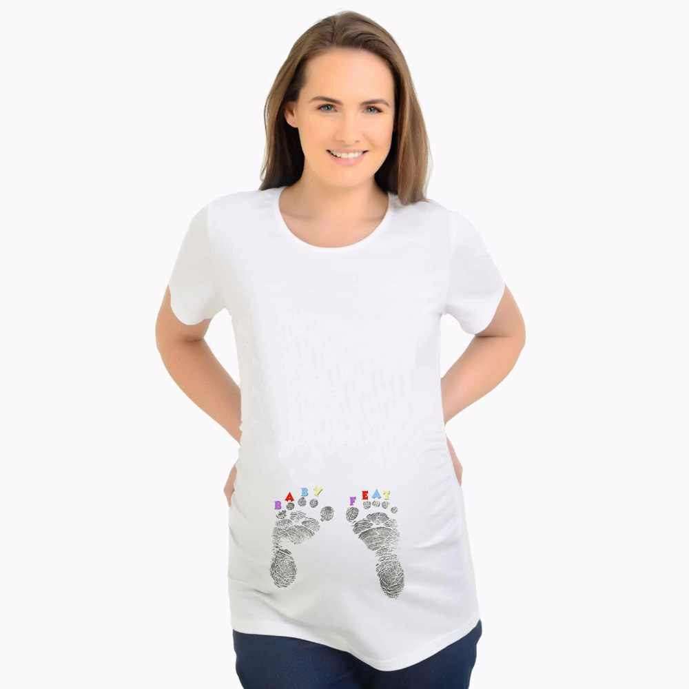 fc93c1a8 ... Maternity T-Shirt Summer T shirts Designer Funny Tops Pregnant BABY  Loading Women Letter Print ...