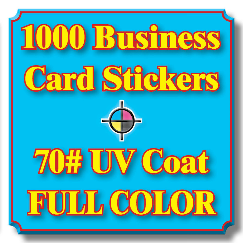 1000pcs Custom Waterproof Business Card Stickers 70# Label UV Coat ...
