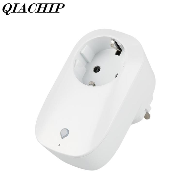 QIACHIP EU Plug Mini Power Socket Phone Wireless Wifi App Remote Control Smart Home Lamps Light AC 100-250V EU Plug DS30 wifi smart socket plug schedule function app remote control electronics energy saving for smartphone tablet ac 100 250v eu plug