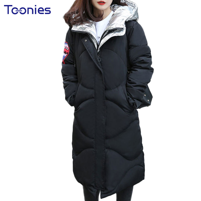 Long Jacket Women Coats Thickening Outwear Cotton Padded Parka Jacket Zipper 2017 Winter Fashion New Style Hooded Warm Overcoats 2017 new autumn winter cotton coats women vintage print long hooded thickening cotton padded jacket warm overcoat plus size z162
