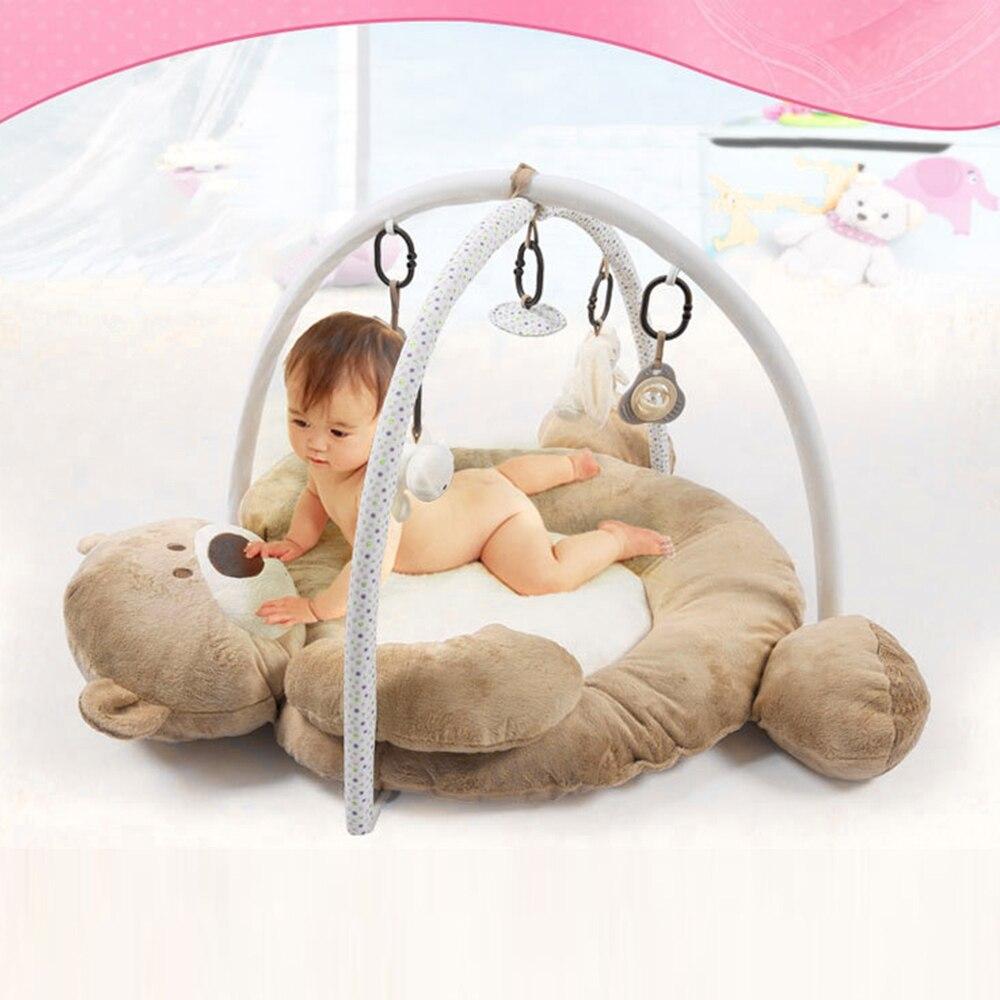 0-12 mois tapis de jeu multifonctions pour bébé tapis de jeu en forme d'ours de bande dessinée tapis de sol pour bébé enfants 3 couleurs disponibles