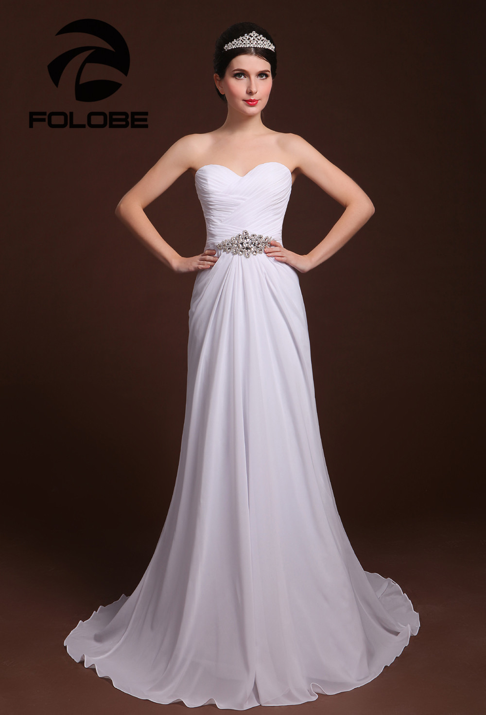 Vestido De Noiva Custom Made Elegant Sweetheart Pleated