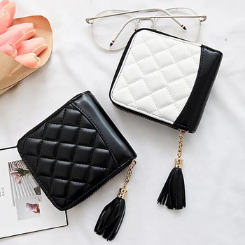 2019 New fashion designer famous luxury brand new candy female wallet small perse Portomonee lady short wallets