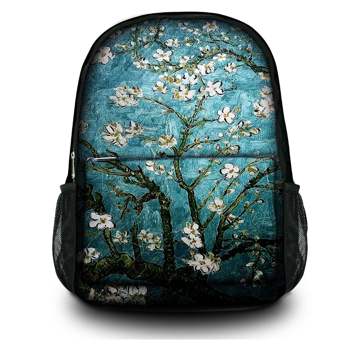Van Gogh Print Canvas Women Backpack Large Capacity Rucksack Satchel School Bag Bookbag Laptop Bag For Teenager's Girl's настенные фотокартины van gogh fruit df 218