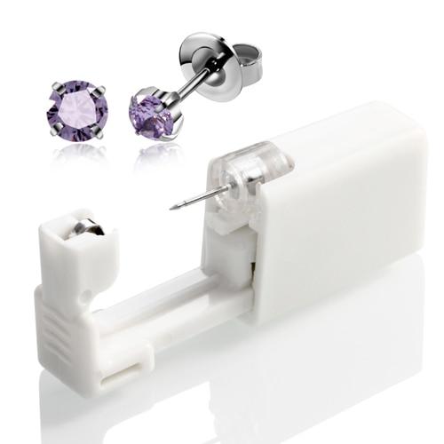 4mm Silver Purple