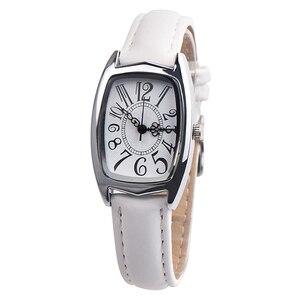 Из искусственной кожи женские кварцевые часы высокого качества повседневные Простые прямоугольные женские кварцевые часы аксессуары для ...