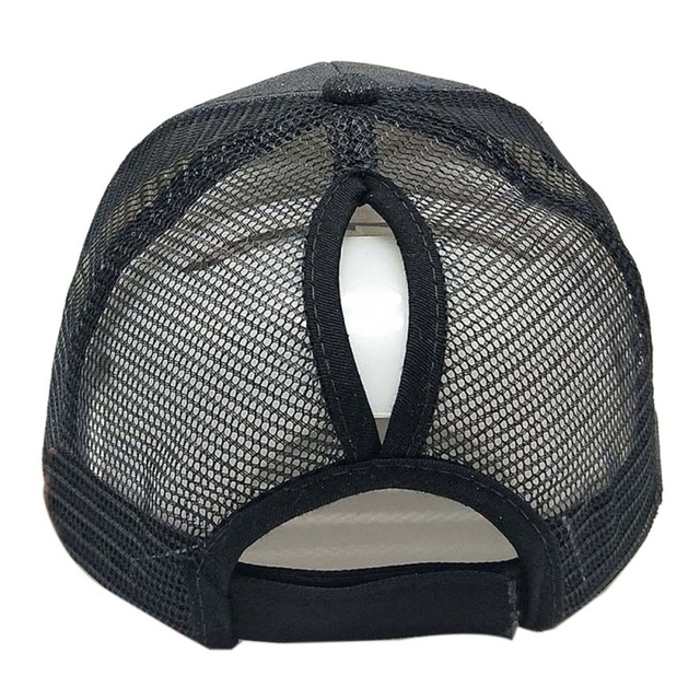 New Glitter Ponytail Baseball  Sport Cap Sequins Shiny Messy Bun Snapback Hat Sun Caps For Running Hiking 1