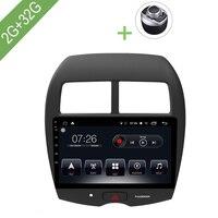 Автомобильный мультимедийный плеер 1 Din Android 7,1 автомобильный DVD для Mitsubishi ASX 2013 2018 10,1 2G/32G сенсорный экран автомобиля радио gps