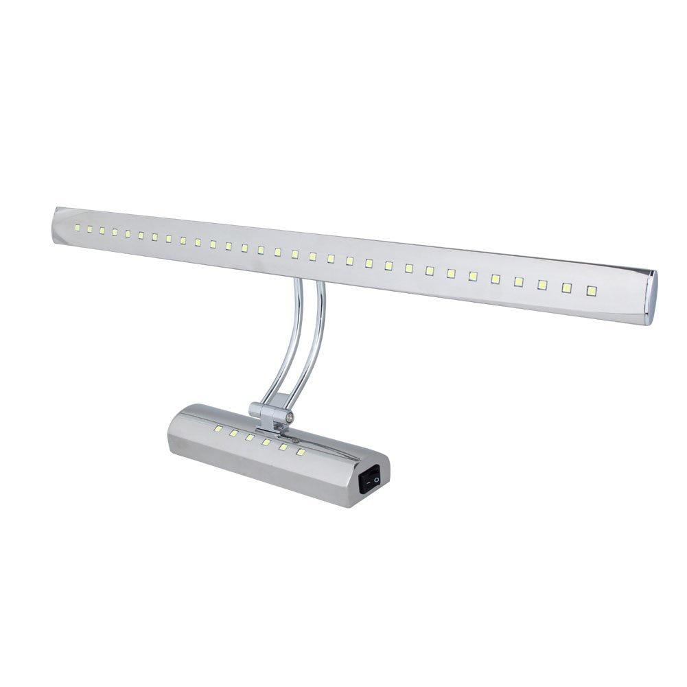 7W Dual Light Source LED Mirror Stainless Steel Bathroom Light Wall Lamp Bathroom Make-up Lighting