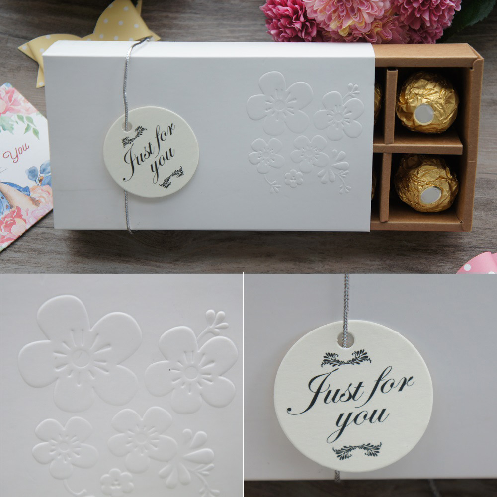 16*8.5*3.4cm 10set Valentine Chocolate Paper Box Elegant Oriental Cherry Sakura Christmas Birthday Candy Packaging Storage Boxes