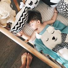 Шерстяное Смешанное мягкое Вязаное детское одеяло ручной работы, 120*75 см, детское одеяло для новорожденных с мультяшным Кроликом, Пеленальное Одеяло для дивана