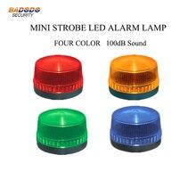 Мини светодиодный мигающая Сигнализация лампа светло-желтый синий красный зеленый свет лампы предупреждающий сигнал Маяк 100 дБ Звуковая сирена для распашных ворот двери