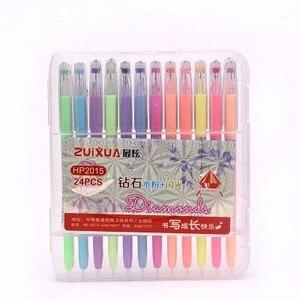 Image 4 - 24/36/48 Colors Gel Pens with Diamond Tip & Gel Pen Refills, Coloring Marker with Case,  (Glitter, Neon, Pastel, Metallic)