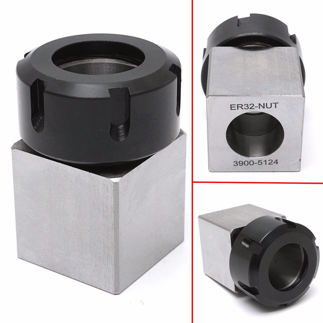 Hard Steel ER-32 Square Collet Chuck Holder 3900-5124 Chuck Block 45x65mm For Lathe Engraving Machine 95% new for panasonic refrigerator nr c23vg1 c23wm1 computer board set on sale