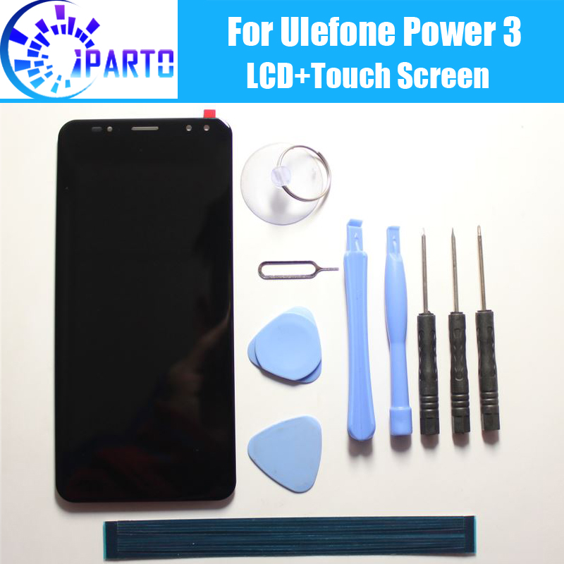 Ulefone Power 3 LCD Display+Touch Screen 100% Original Tested LCD Digitizer Glass Panel Replacement For Ulefone Power 3Ulefone Power 3 LCD Display+Touch Screen 100% Original Tested LCD Digitizer Glass Panel Replacement For Ulefone Power 3