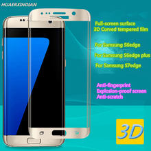 3D Curved Surface  Explosion-proof Full Screen Tempered Glass for Samsung Galaxy S6 s7 edge plus phone Screen Protector Film