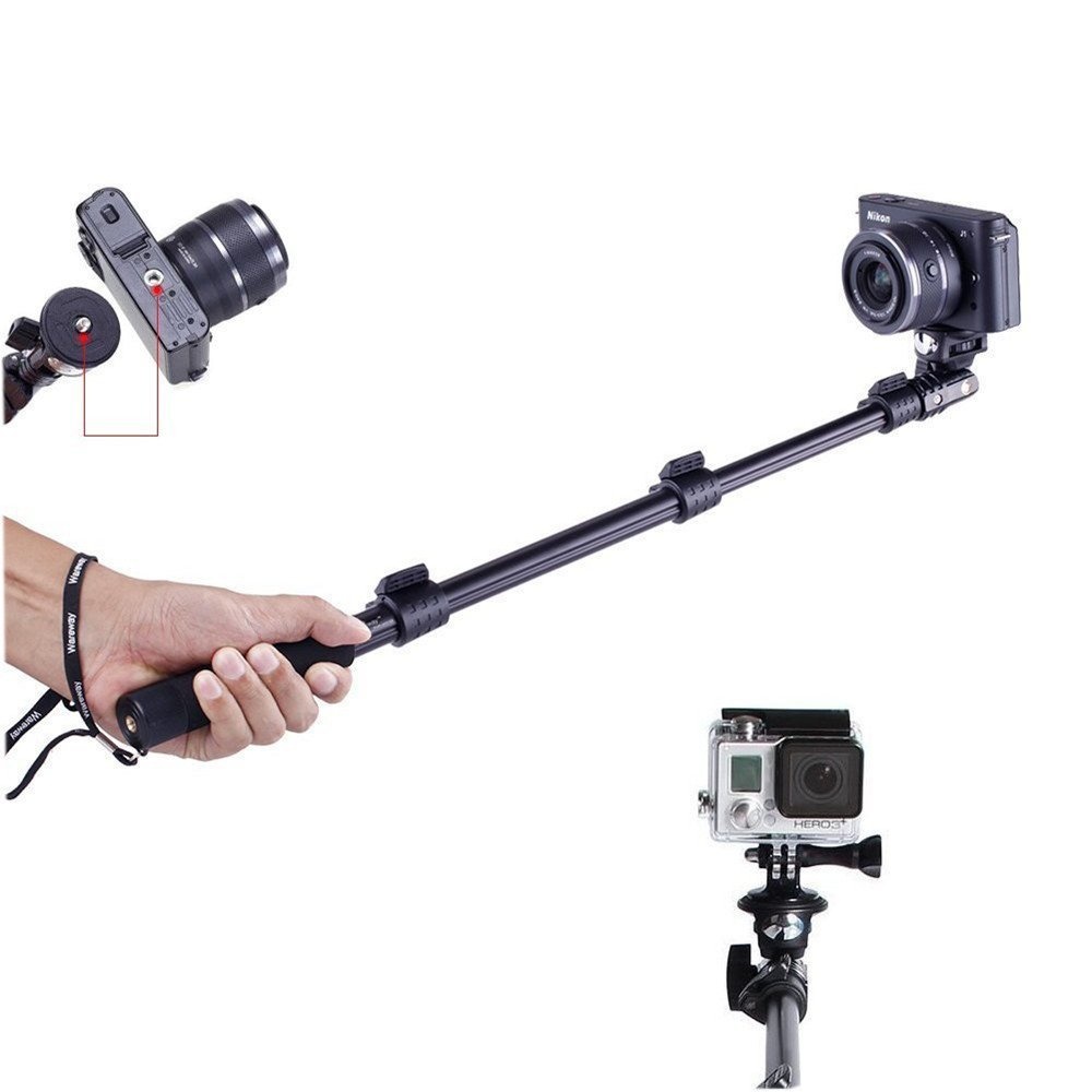 "YunTeng YT 1288 selfie stick bluetooth 50""Handheld Monopod with Bluetooth  Remote Control Shutter for Cell phone Camera gopro-in Selfie Sticks from  Consumer ..."