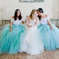 Custom Ladies Summer Female Variety Color Mommy And Daughter Ball Gowns For Girls Long Tulle Tutu Women Wedding petticoat