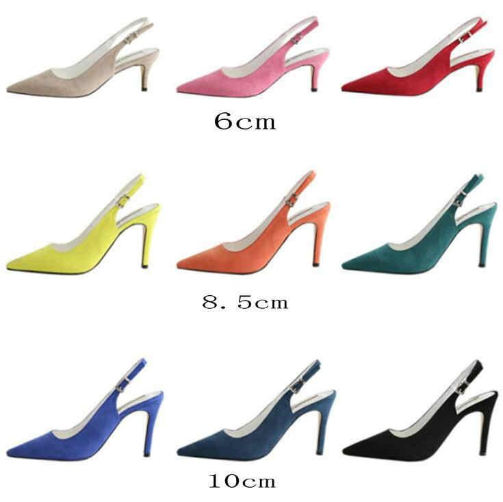 נשים נעלי אלגנטי צבעים זמש סקסי אדום עקבים גבוהים משאבות & סנדלי שמלת מסיבת OL משאבת ולנטיין נשים נעלי מפלגה