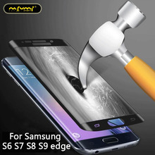 Full Cover Screen Protector Tempered Glass For Samsung S6 S7 S8 S9 edge toughened glass 3D surface Curved Film