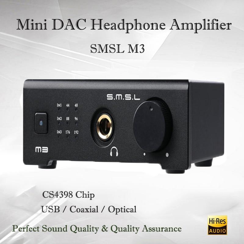 SMSL M3 Mini Dac USB Amplificatore Hifi Amplificatore Per Cuffie Portatile Audio Decoder Amplificatore Per Cuffie CS4398 Amplificatori Audio Ottico OTG