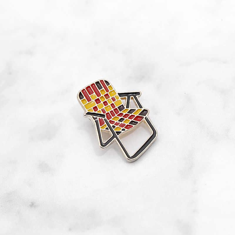 Высококачественное модное и креативное повседневное кресло брошь стул приспособление для бейджа хороший друг Подарочная брошка оптом