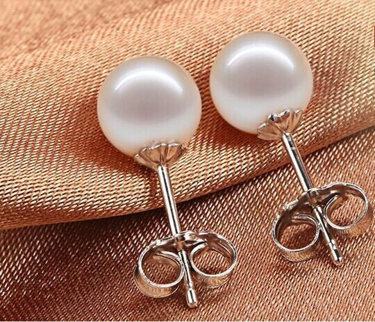 PAIR OF HUGE 12MM NATURAL SOUTH SEA GENUINE WHITE PEARL STUD EARRING 14k pair of rhinestone floral faux pearl stud earrings
