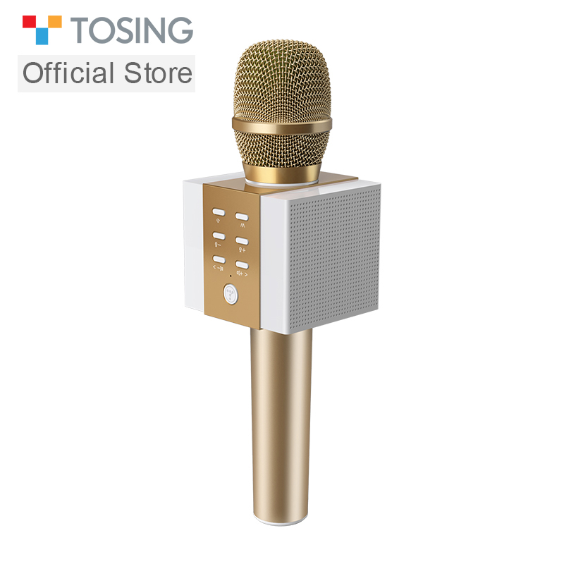 Tosing 2019 New 008 3 in 1 Handheld Karaoke Microphone with One Button to Remove Original