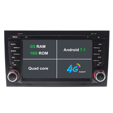 Android 7.1 dvd-плеер автомобиля для Audi A4 S4 2002-2008 автомагнитолы gps-навигация стерео магнитофон 2 г Оперативная память 3G/4 г WI-FI BT МЖК