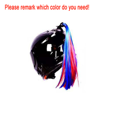 Colorful Motorcycle Pigtails Ponytail Hair Stick On Helmet Ponytail Mix Color Helmet Braids Dirt Bike Ski Street Motocross