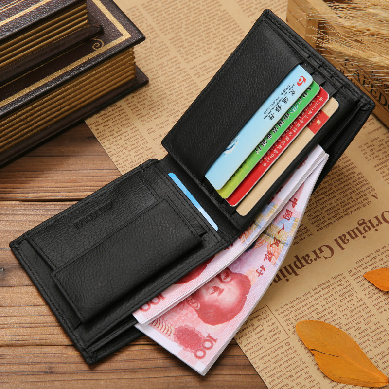 High Quality Vintage Men Pu Brand Luxury Wallet Short Slim Male Purses Money Clip Credit Card Price Billetera Carteria in Wallets from Luggage Bags