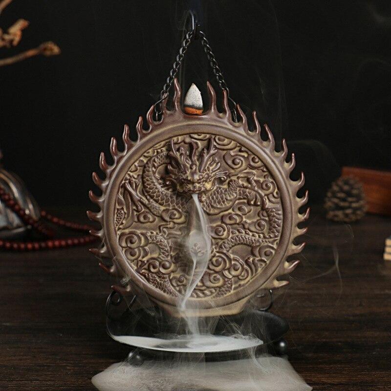 Il Drago di Giada Proiettile Riflusso Coni di Incenso Bruciatore Fumo Censer Creativo Buddha Tè Bruciatore di Incenso Artigianato di Ceramica