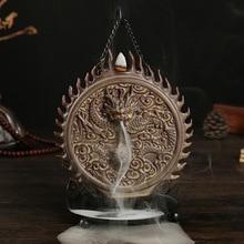 The Dragon Jade Bullet Backflow Incense Cones Burner Smoking Censer Creative Buddha Tea Incense Burner Ceramic Crafts