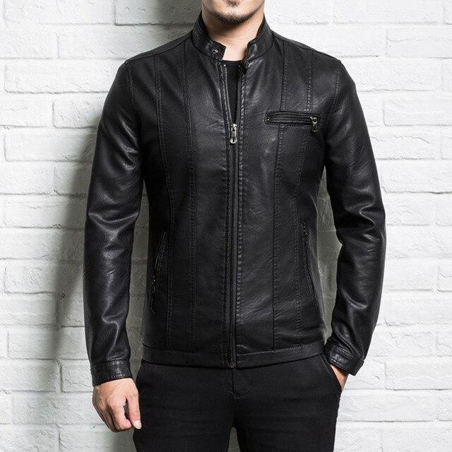Homens jaqueta de couro genuíno da pele de carneiro 2019 nova primavera e outono fino zipper motocicleta masculino jaqueta de couro rachado do menino do adolescente