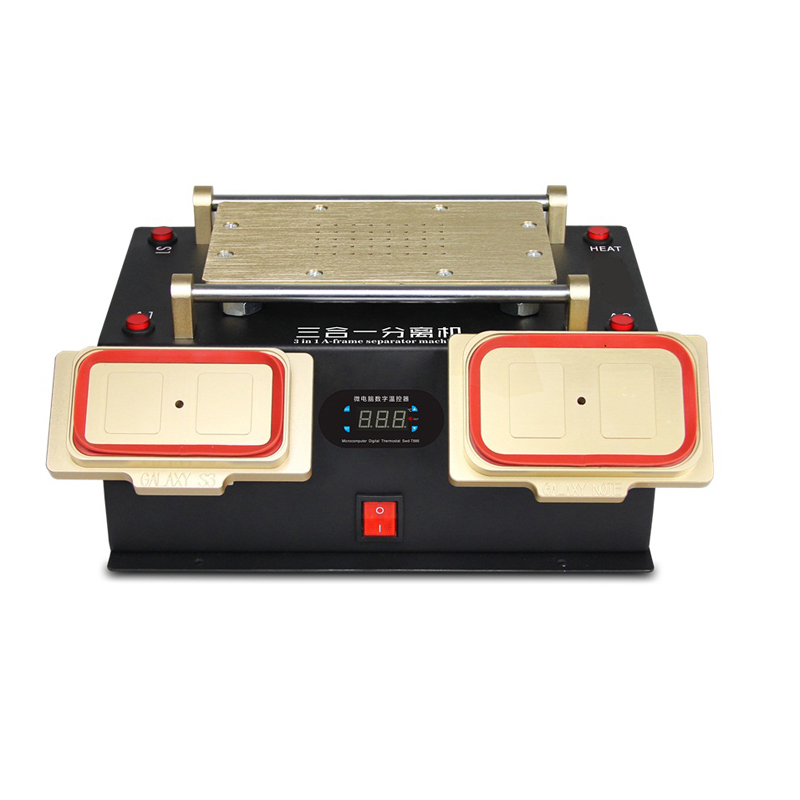LY 968 3 in 1 A-frame Separator built-in Vacuum Pump for iPhone Samsung Mobile Phone Repair 8 inch lcd separator ly 947 v 3 pro inner vacuum pump built in uv solid light for all phone