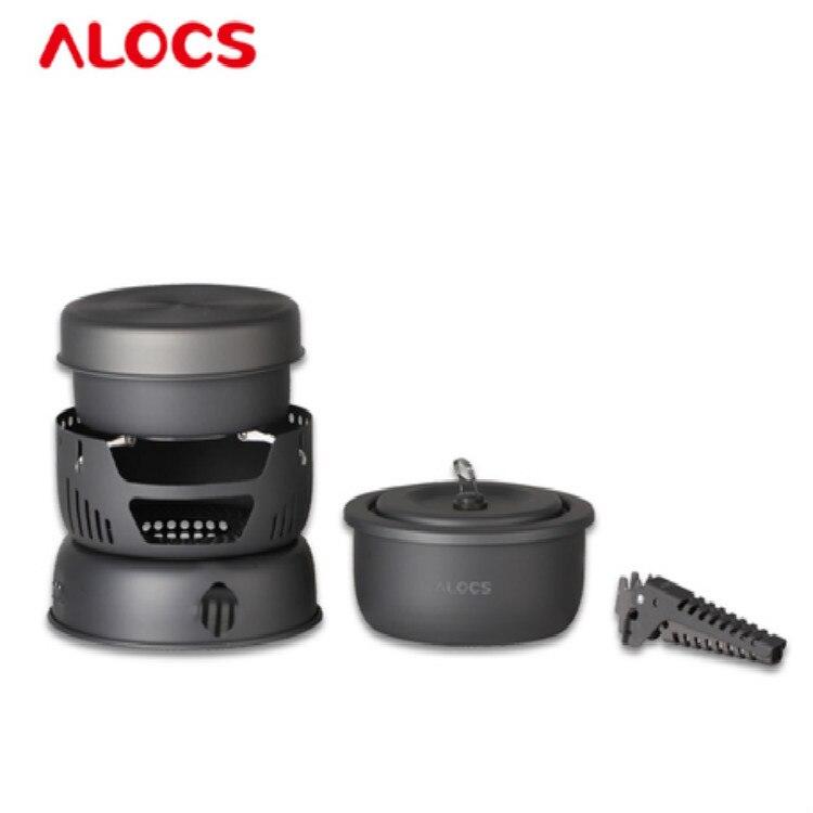 ALOCS 10 pièces professionnel-qualité Ultra-léger pique-nique/randonnée/voyage/Camping poêle vaisselle extérieure ustensiles de cuisine matériel de Camping