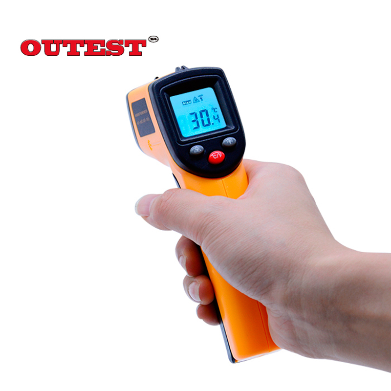 Infrared thermometer GM320 Non Contact Laser Gun Infrared IR Thermometer LCD digital display -50~380 degree 1pcs with skin box