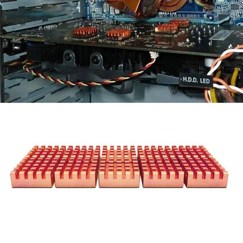 8 Pcs/Set Copper Heat Sink for DDR DDR2 DDR3 RAM Memory Cooler Radiator XXM8 gino 2 pcs blue aluminum heatsink shim spreader cooler cooling for ddr ram memory