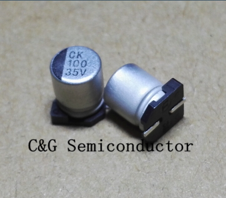 20pcs 100UF 16V SMD chip Aluminum Electrolytic Capacitor 6.3x5.4mm