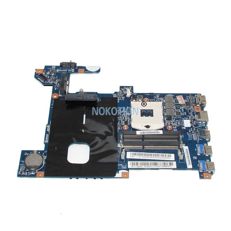 NOKOTION LG4858 UMA MB 11291-1 48.4SG15.011 laptop motherboard For lenovo ideapad G580 15.6 Inch Main Board SLJ8E HD4000 DDR3 nokotion sps v000198120 for toshiba satellite a500 a505 motherboard intel gm45 ddr2 6050a2323101 mb a01