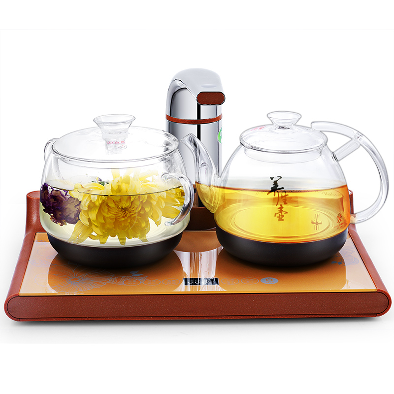 Electric kettle Automatic water kung fu tea set tray Overheat Protection wholesale tea natural bamboo tea tray 35 24 6 fu water storage type tea festival gift custom logo