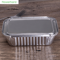 50 stücke 600 ml Dicken Aluminium Loaf Backen Pfannen mit Deckel Kochen Dosen Recycelbar Aluminium Tragbare Lebensmittel Lagerung Container-in Lunchboxen aus Heim und Garten bei